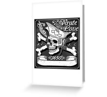 Jolly-Roger-Pirate-Flag-Blackboard Greeting Card