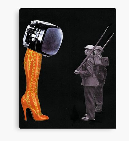 Under Scrutiny of the Boot Canvas Print