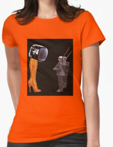 Under Scrutiny of the Boot Womens Fitted T-Shirt