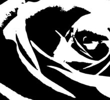 Artsy Black And White Rose  Sticker