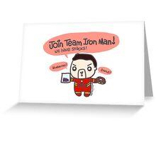 Team Snacks :D  Greeting Card
