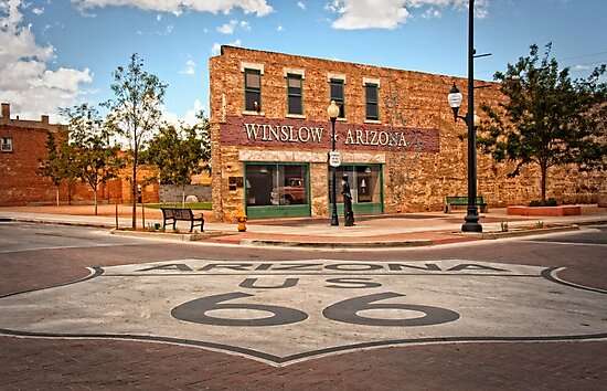 Flatbed Ford and Winslow Route 66 by Lee Craig