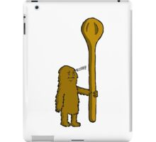 Why Is He Disappointed With His Comically Large Spoon? iPad Case/Skin