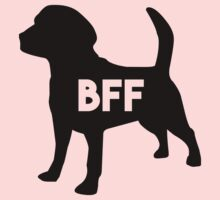 Pet BFF - Dog Best Friend Forever (black silhouette, pop color background) Kids Clothes