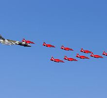Vulcan and the Red Arrows by Jet Shots