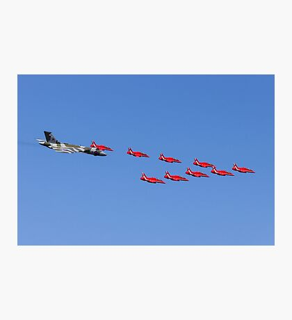 Vulcan and the Red Arrows Photographic Print