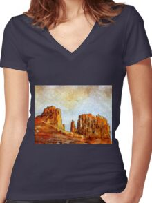 sedona arizona - USA Women's Fitted V-Neck T-Shirt