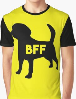 Pet BFF - Dog Best Friend Forever (black silhouette, pop color background) Graphic T-Shirt