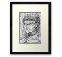 Portrait Study. Framed Print