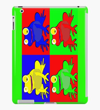 Frog warhol like iPad Case/Skin