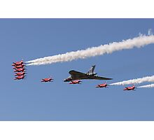 Vulcan and Red Arrows Photographic Print