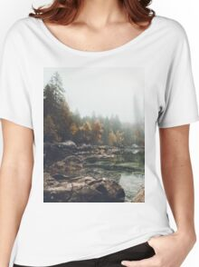 Lake serenity landscape photography Women's Relaxed Fit T-Shirt