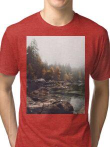 Lake serenity landscape photography Tri-blend T-Shirt