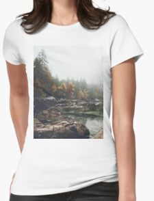 Lake serenity landscape photography Womens Fitted T-Shirt