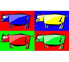 Pig Warhol like Photographic Print