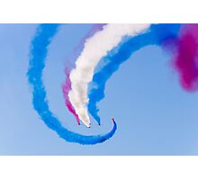Red White and Blue Arrows Photographic Print