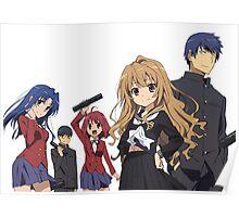Toradora - Taiga Aisaka, Ryuuji Takasu, Minori Kushieda, Yusaku Kitamura, Kawashima Ami Poster