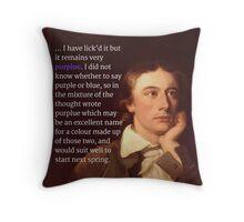 Keats Throw Pillow