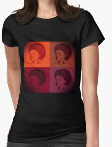 Black Female Pride  Womens Fitted T-Shirt