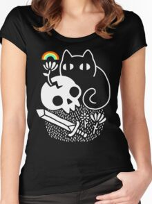Cat & Stuff Women's Fitted Scoop T-Shirt