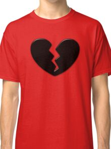 Broken Heart Love Black Dark Classic T-Shirt
