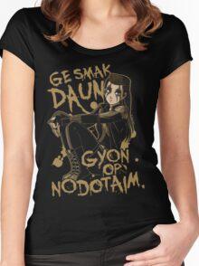 Ge smak daun... Women's Fitted Scoop T-Shirt