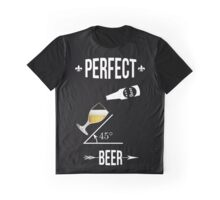 Perfect beer angle 45 degres funny design T-shirt beers lovers Graphic T-Shirt