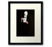 Slender Man Cosplay  Framed Print