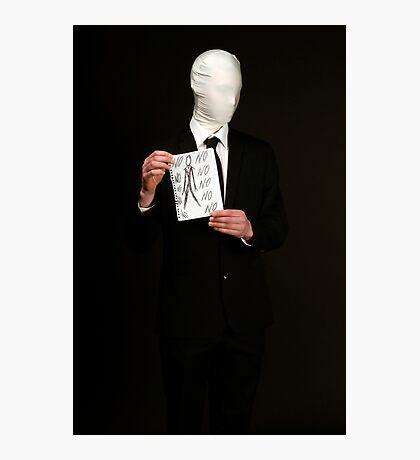 Slender Man Cosplay  Photographic Print