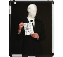 Slender Man Cosplay  iPad Case/Skin