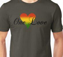 One Love Heart Green Unisex T-Shirt