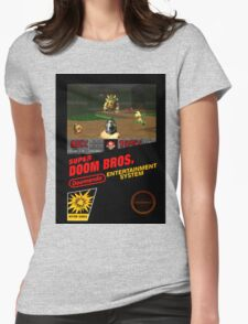 Super Doom Bros. seal Womens Fitted T-Shirt
