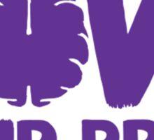 Love Your Brain Purple Quote Sticker