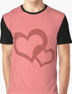 Love Heart Hearts Red  Graphic T-Shirt