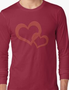 Love Heart Hearts Red  Long Sleeve T-Shirt