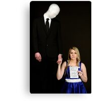 Slender Man and friend cosplay Canvas Print