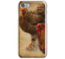 Rooster and hen iPhone Case/Skin