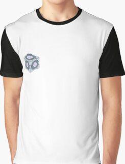 Companion Cube Portal 2 Merch Graphic T-Shirt
