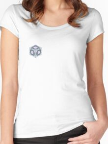 Companion Cube Portal 2 Merch Women's Fitted Scoop T-Shirt