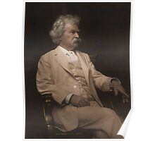 Mark Twain Colorized Poster