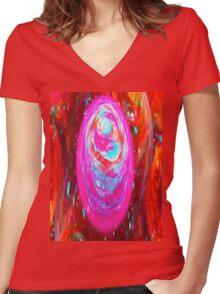Swirls Women's Fitted V-Neck T-Shirt
