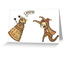 Doctor Who - Chasing a Dalek Greeting Card