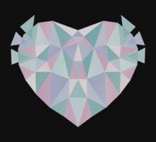 Pastel Heart One Piece - Long Sleeve