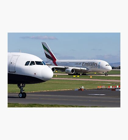 Emirates A380 Taxis Photographic Print