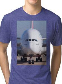 A380 Face On Tri-blend T-Shirt