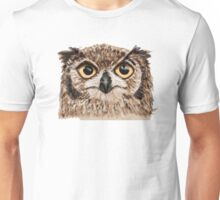 Disapproving Owl Disapproves Unisex T-Shirt