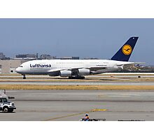 Lufthansa A380 Photographic Print