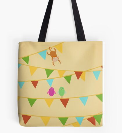 Birds and Monkey Tote Bag