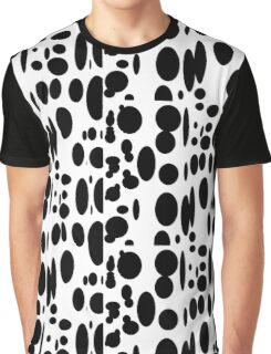 Black and white abstract cow pattern Graphic T-Shirt
