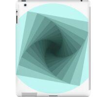 Square Blue Burst iPad Case/Skin